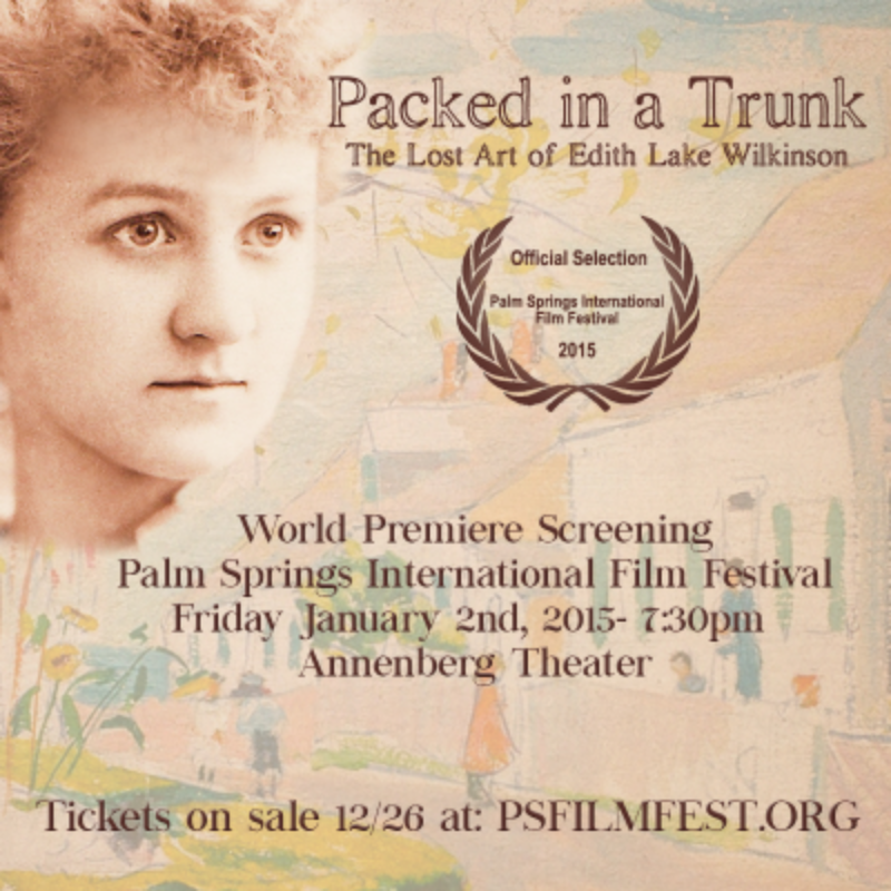 PACKED IN A TRUNK in Palm Springs!  World Premiere at Palm Springs International Film Festival, Friday January 2nd 2015                                   ***Tickets on sale Friday 12/26